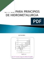 Datos Para Principios de Hidrometalurgia