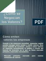 C+¦mo se Negocian los Valores