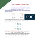 Hipotesis Para Proporciones Dos Poblacion