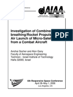 Investigation of Combined Air-BreathingRocket Propulsion for Air Launch of Micro