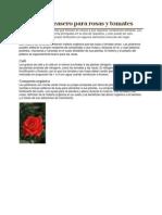 Fertilizante Casero Para Rosas y Tomates