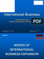 288 33 Powerpoint Slides Chapter 11 Modes International Business Expansion