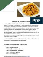 Semana Cozinha Italiana