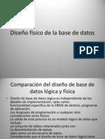Diseño fisico de la base de datos