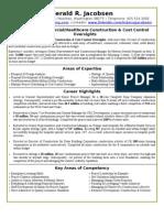 5-18-2013 Full Version - Cirriculum Vitae / Resume for Jerry Jacobsen, CEO/Owner, NWCC, Mukilteo, Washington