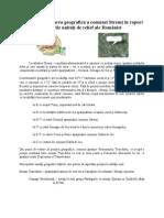 Poziţia şi localizarea geografică a comunei Stremţ