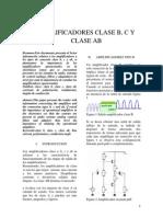 Amplificadores Clase B, Clase C, Clase AB