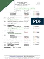 TM Agenda 20th May