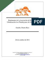 Reglamento de la Asociación de Residentes 2011 - oficial