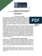 Manifiesto en Espanol