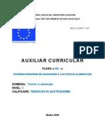 Sisteme Europene de Asigurare a Calitatii in Alimentatie