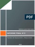 Informe Final de Laboratorio de Circuitos Electricos I N°2