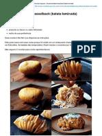 Receitas Supreme – hasselback (batata laminada)