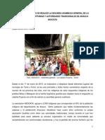CON ROTUNDO ÉXITO SE REALIZO LA SEGUNDA ASAMBLEA GENERAL DE LA ASOCIACION DE CAPITANIAS Y AUTORIDADES INDIGENAS DE ARAUCA ASOCATA