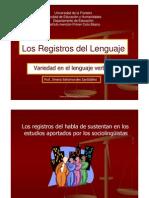 Los Registros de Habla