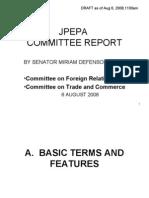 Jpepa Committee Report - Sen. Miriam Santiago Aug 2008