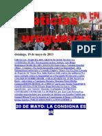 Noticias Uruguayas Domingo 19 de Mayo Del 2013