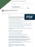 Compiladores de C grátis para PIC´s - Electrónica - Portugal-a-Programar