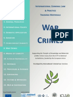 INTERNATIONAL CRIMINAL LAW & PRACTICE TRAINING MATERIALS