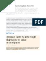 Cajas Municipales y Cajas Rurales Peru