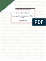 Análisis de la materia prima VISCOSIMETROS Y SSU SSF