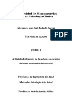 Psicología de la Salud - Resumen de la lectura, La curación del alma.pdf