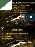 Example of presentation (Antique Lamborghini Auto Show)