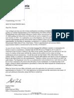 PDE Letter on Commission