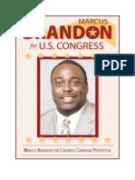 Campaign Prospectus for Marcus Brandon for US Congress
