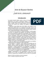 Boysson-Bardies - Boysson-Bardies - Qué es el lenguaje. Introducción (pasaje)