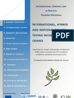 INTERNATIONAL AND HYBRID CRIMINAL COURTS TRYING INTERNATIONAL CRIMES