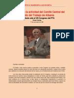 Hoxha - Informe Ante El VIII Congreso Del PTA (1981)