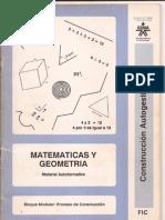 Cartilla Sena, Matematicas y Geometria