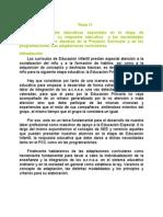 Tema 11a Las Nee en Ei. Respuesta Educativa en Pcc y Programaciones. Adaptaciones Curriculares
