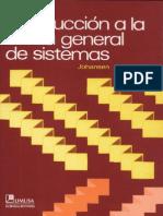 Introduccion a La Teoria General de Sistemas