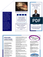 Our Bible Institute offers online audio lecture courses [0164] Don E. Peavy, Sr. Pearl of Great Price Brochure1.pdf
