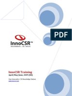 InnoCSR Apr to June Training Program Brochure