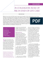 The role of social work in end-of-life and palliative care