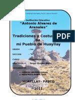 Costumbre de Huayllay
