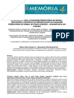 Os desafios para a paisagem ferroviária no Brasil - Reflexões a respeito da preservação da paisagem ferroviária do ramal de Ponta Grossa a Guarapuava no Paraná