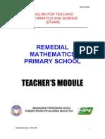 Pemulihan Teacher's Module