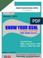 BSNL[Mobile]-A Customer Handbook