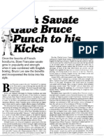 French Savate Gave Bruce Punch to His Kicks