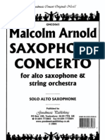 [Scores] Arnold Malcolm - Saxophone Concerto for Alto Saxophone & Strin Orchestra (Sax Alto Piano) [by Odi]