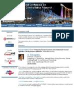 FSCR 2013 Forensic Sciences & Criminialistics Research