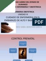 Cuidado de Enfermeria en El Embarazo de Alto y Bajo Riesgo