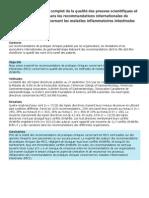 Examen Des Recommandations de Pratiques Cliniques Concernant Les MICI
