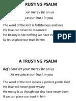 A Trusting Psalm