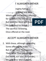 Accept Almighty Father