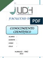 Conocimiento Científico monografia